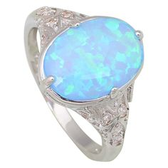 Find More Rings Information about Fashion Opal rings Fina Jewelry Women's rings Blue Fire Opal Silver Filled Gift ring size 5 6 7 8 9 10 R442,High Quality ring shadow,China ring fence Suppliers, Cheap ring bearer wedding gift from Dana Jewelry Co., Ltd. on Aliexpress.com