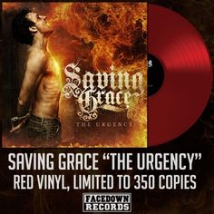 """Saving Grace """"The Urgency"""" red vinyl 