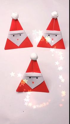 Christmas Origami, Christmas Paper Crafts, Christmas Activities, Kids Christmas, Origami Santa Claus, Elephant Crafts, Santa Crafts, Origami Tutorial, Origami Art