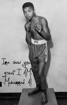 Muhammad Ali. Success is a habit. Work towards your goal everyday.