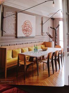 Inspiration am nagement salle manger banquette - Cuisine avec salle a manger integree ...