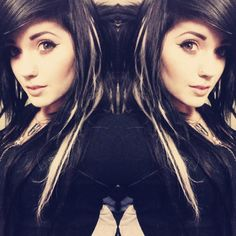 LedaBunnie black hair with white streak