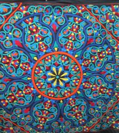 Applique work by a Cairo Tentmaker ~ MulticoloredPieces: A Weekend in Cairo, Part 2: The Tentmakers