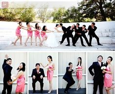 Silly pictures bridesmaid, cute!