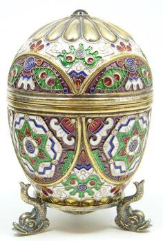 Ruckert ....silver ,enamel Imperial Russian egg
