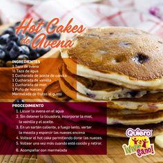 HOT CAKES DE AVENA #QuieroVivirSano #SaludFísica #CocinaSaludable