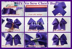 Discover recipes, home ideas, style inspiration and other ideas to try. Braided Cheer Hair, Cheer Hair Bows, Diy Hair Bows, Diy Bow, Diy Ribbon, Ribbon Bows, Ribbons, College Cheer Hair, Cheer Hair Tutorial