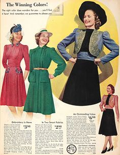 Sears catalogue from Autumn/Winter 1940