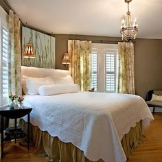 10 Creative Corner Bed Design Picture Remodel And Ideas To Choose decoratio. Bed In Corner, Bedroom Corner, Bedroom Bed, Cozy Bedroom, Bedroom Furniture, Bedroom Decor, Bedroom Ideas, Master Bedroom, Bed Ideas