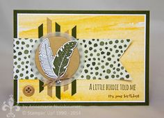 Stampin' Up! by First Hand Emotion: IN{K}SPIRE_me Challenge #164: Herbstliche Federn mit Gold