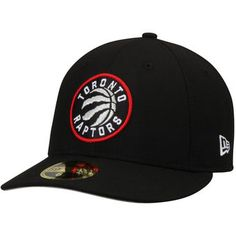 Men's Toronto Raptors New Era Black Official Team Color Low Profile 59FIFTY Fitted Hat