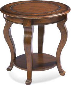 Bassett Mirror 8125-220 Pontevecchio Cameo Legs Round End Table, 24