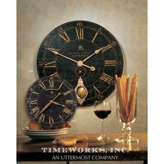 Design: Laminated Clock Face With A Weathered Crackled Look, Cast Brass Details And Internal Pendulum. Laminated Clock Face With A Weathered Crackled Look, Cast Brass Details And Internal Pendulum. Best Wall Clocks, Kitchen Wall Clocks, Rustic Wall Clocks, Unique Wall Clocks, Unique Wall Decor, Clock Wall, Clock Decor, Unusual Clocks, Clock Display