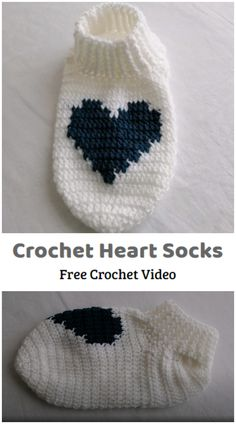 We are going to learn How to Crochet Heart Socks Design. If you haven't ever made them, you may be surprised to discover that crochet socks are a really fun project. These Crochet House Socks will keep your feet toasty warm, but remember to either wear them on carpet or to add some kind of anti-skid bottom if you plan on using them on hard flooring. It might seem that a crochet pattern like this is a complicated endeavor for a beginner, but there are so many easy projects to try. All Free Crochet, Crochet Home, Learn To Crochet, Crotchet Socks, Designer Socks, Crochet Videos, Easy Projects, Beaded Embroidery, Crochet Patterns