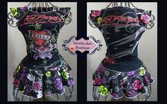 Upcycled Ed Hardy Skull Dress Size 4/5 by stewiecakes on Etsy, $30.00