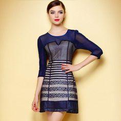 2013 Fall Lace Decorate Plus Size Dress Patterns