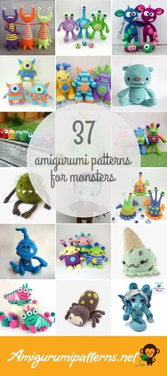 Amigurumipatterns.net has the largest collection of free and premium Monsters amigurumi patterns. Click now and discover wonderful crochet patterns!