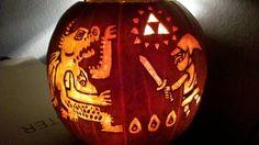 Legend of Zelda ~ Wind Waker Pumpkin Carving | by KiwifruitSantaCruz @ DeviantArt