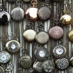 vintage pocket watches - kills me the one I had of my mom's that was my great great grandpa's was stolen. WAH!