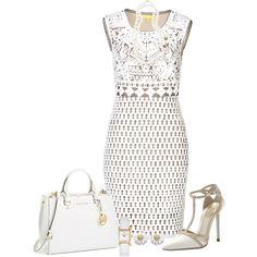 """White Dress"" by allisha-fa on Polyvore"