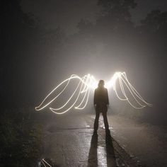 Angel wings of light. Angels Among Us, Angels And Demons, Dark Angels, Light Painting Photography, Art Photography, Conceptual Photography, Famous Photography, Shadow Photography, Experimental Photography