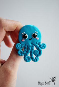 Octopus brooch Octopus pin Octopus jewelry Devilfish brooch