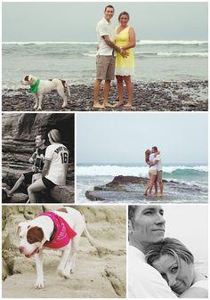Beach Engagement Shoot with Rescue Dog Darla - mazelmoments.com