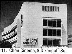 "Chen Cinema, ""White City"" of the Bauhaus in Tel Aviv"