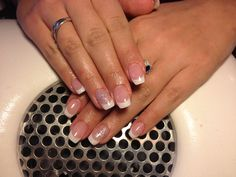 french manicure natural//snow