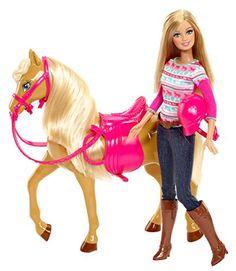 Barbie - BJF78 - Poupée - Barbie Et Son Cheval Barbie http://www.amazon.fr/dp/B00ERK4398/ref=cm_sw_r_pi_dp_QLGEub0V7169P