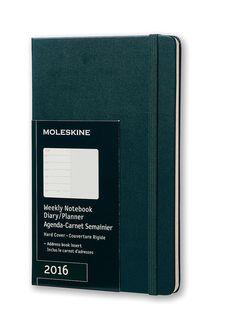 2016 Moleskine Tide Green Large Weekly Diary 12 Months Hard: Moleskine: Amazon.co.uk: Office Products