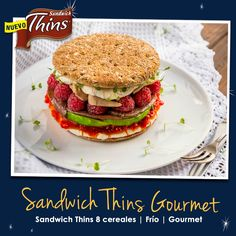 Sándwich Thins 8 cereales Gourmet.