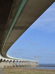 Wales Coast path under the Severn Bridge