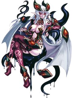 Here is Druella, a succubus monster girl. She is evil and not the nicest monster girl out there, but those who enjoy being dominated and punished would probably enjoy her company. Fantasy Characters, Female Characters, Anime Characters, Thicc Anime, Anime Demon, Anime Fantasy, Fantasy Girl, Female Character Design, Character Art