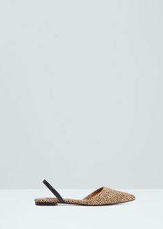 Slingback aus leder - Schuhe für Damen | MANGO