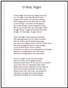 Oh Holy Night lyrics, Music-for-Music-Teachers.com  - Josh Groban Version