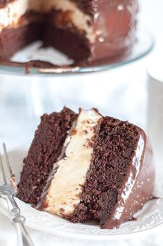 This Salted Chocolate Ganache Ding Dong Cake recipe will make you weep with tears of bliss and works really well with gluten free flour. It is a moist chocolate cake, fluffy Ho Ho filling, and ganache drizzled all over. http://www.mamagourmand.com