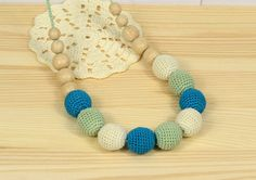 Nursing necklace. Teething necklace. Crochet от MalechaKnitting