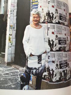 白髪, 高度なスタイル, 和風, ファッションデザイナー, フィレンツェ, 美しい女性. 島田順子