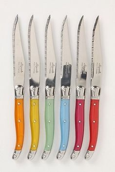 Laguiole Steak Knives - eclectic - knives and chopping boards - Anthropologie