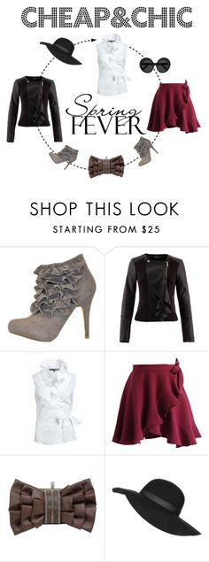 Cheap&Chic ruffles style by trendcrossing on Polyvore featuring moda, Morgan, Chicwish, Fahrenheit, Linda Farrow and Topshop