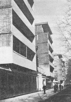 1929-1932. Иваново-Вознесенск. Дом-коллектив. И. Голосов. Общий вид.