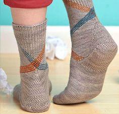 Ravelry: Our Paths Cross Socks pattern by Lorilee Beltman