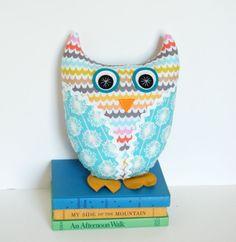 Plush Owl Doll Handmade Stuffed Animal by FriendsOfSocktopus, $26.00