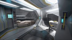Various Star Citizen Clothing Futuristic Bedroom, Futuristic Interior, Futuristic City, Futuristic Design, Futuristic Architecture, Minimalist Architecture, Spaceship Interior, Spaceship Design, Star Citizen