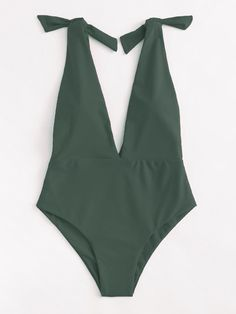 Shop Deep V Plunge Knot Swimsuit online. SheIn offers Deep V Plunge Knot Swimsui… Shop Deep V Plunge Knot Swimsuit online. SheIn offers Deep V Plunge Knot Swimsuit & more to fit your fashionable needs. Summer Wear, Summer Outfits, Spring Summer, Lingerie, Cute Bathing Suits, Beachwear, Swimwear, Cute Swimsuits, Mode Inspiration