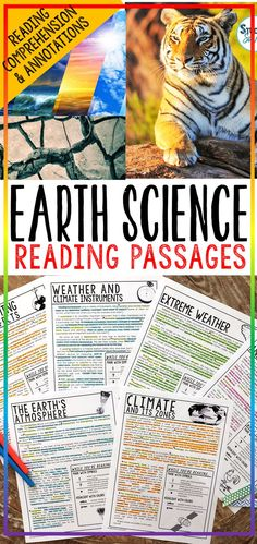 Earth Science Reading Comprehension Passages, Worksheets, Questions, and Annotations Bundle! This bundle contains 10 StudentSavvy Reading Passage & Expository Text Resources! It contains a total of 48 Science Resources, Science Lessons, Life Science, Science Curriculum, Teaching Science, Science Projects, Teaching Ideas, Reading Comprehension Passages, Comprehension Activities
