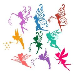 Flying Fairy Cuttable Design Cut File. Vector, Clipart, Digital Scrapbooking Download, Available
