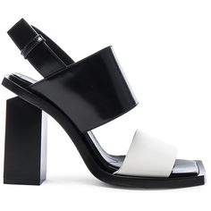 Marni Leather Heels ($630) ❤ liked on Polyvore featuring shoes, pumps, heels, marni, leather upper shoes, marni shoes, high heel court shoes and heel pump