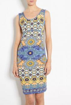 Amalfi Pottery Print Jersey Shift Dress by Philosophy di Alb